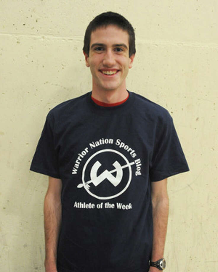 Tim Becker races away with last week's Trackside Teen Center Athlete of the Week award