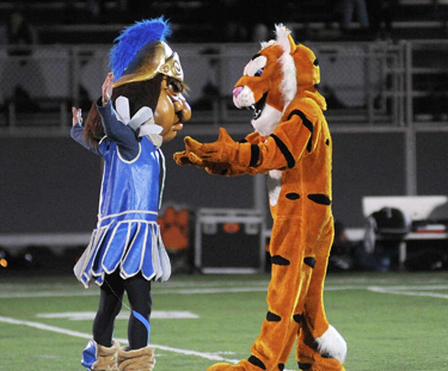 Mascot v. Mascot at the 50-yard line