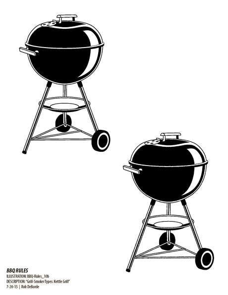 "Illustration on how a charcoal grill works from  ""Myron Mixon's BBQ Rules"" by Myron Mixon (Stewart, Tabori &hang, $24.95)."