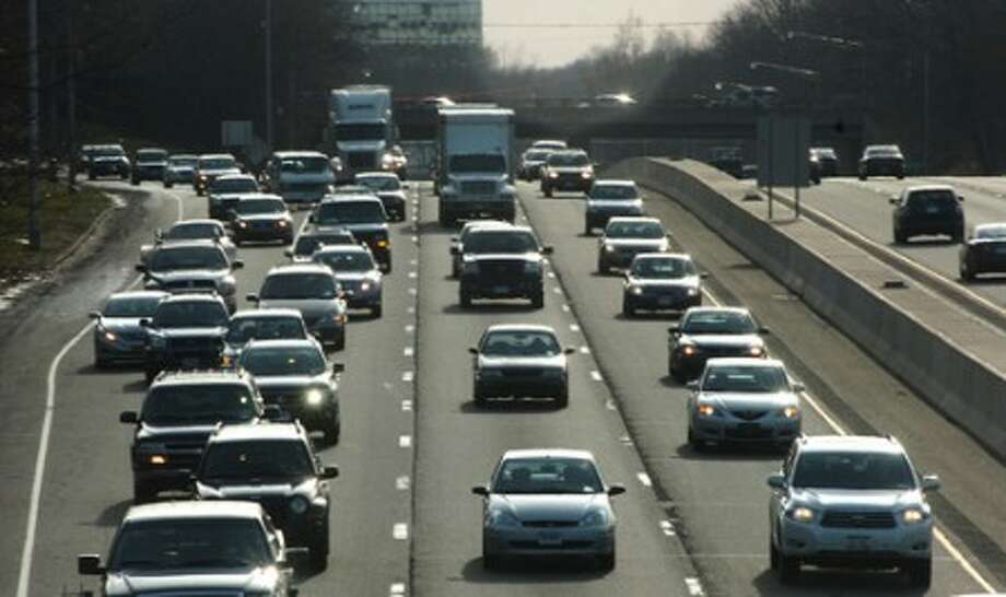 Photo/Alex von Kleydorff. Traffic heads north through Norwalk on Interstate 95.