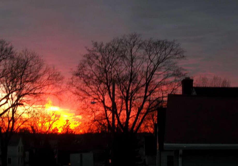 Photo by JACK PATTERSON Sunset in Norwalk on Friday evening, Jan. 18, 2013, taken by Norwalk resident Jack Patterson.