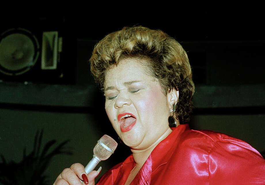 In this, April 6, 1987, photo, singer Etta James performs at the Vine St. Bar & Grill in Hollywood, Calif. The singer's manager says Etta James has died in Southern California. Lupe De Leon tells The Associated Press the singer died early Friday, Jan. 20, 2012 at Riverside Community Hospital. De Leon says the cause of death is complications of leukemia. (AP PhotoAlison Wise) / 1987 AP