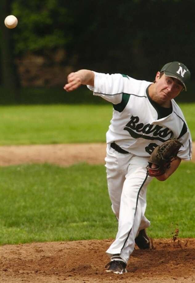 Norwalk High School baseball pitcher during their game against Brigeport Central Friday. Hour photo / Erik Trautmann