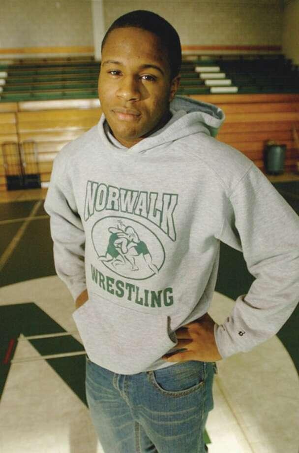 Norwalk High School wrestling stand out, Brandon Riggin. Hour photo / Erik Trautmann