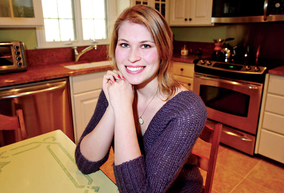 Cancer survivor Anne Livingsyone will be cooking with celebrity chef Robert Irvine at the Make-A-Wish Gala at Mohegan Sun in March. Hour photo / Erik Trautmann / (C)2012, The Hour Newspapers, all rights reserved
