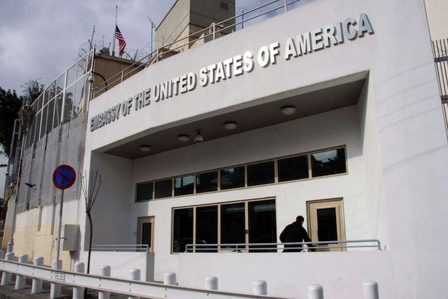 FILE - In this Wednesday, Jan. 12, 2011 file photo, the U.S. embassy building is seen in Damascus, Syria. The Obama administration has closed the U.S. Embassy in Damascus and pulled all American diplomats out of Syria Monday, Feb. 6, 2012. (AP Photo/Bassem Tellawi, File) / AP