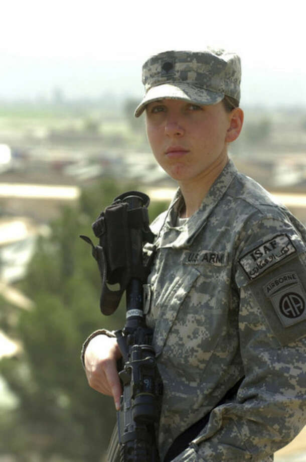 This Thursday, March 20, 2008, photo provided by the US Army shows Army Spc. Monica Brown, a medic from the 782nd Brigade Support Battalion, 4th Brigade Combat Team, 82nd Airborne Division, who received a silver star at an award ceremony at Bagram Airfield, Afghanistan. Brown is the second female since World War II to earn the Silver Star award for her actions while in combat. (AP Photo/US Army, Spc. Micah E. Clare)
