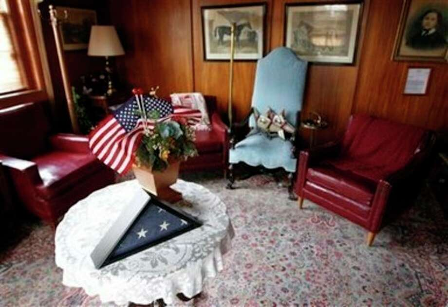 Gen. John Joseph Pershing's room is seen at Walter Reed Army Medical Center in Washington, Thursday, July 21, 2001. Walter Reed Army Medical Center, the military's flagship hospital where privates to presidents have gone for care for more than a century, is closing its doors. Hundreds of thousands of the nation's war wounded from World War I to today have received treatment at Walter Reed, including 18,000 troops who served in Iraq and Afghanistan. (AP Photo/Luis M. Alvarez) / FR596 AP
