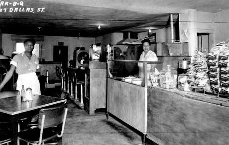 Barbecue had its Houston beginnings in the Fourth Ward. This restaurant, circa 1950, was  located at 407 Dallas.
