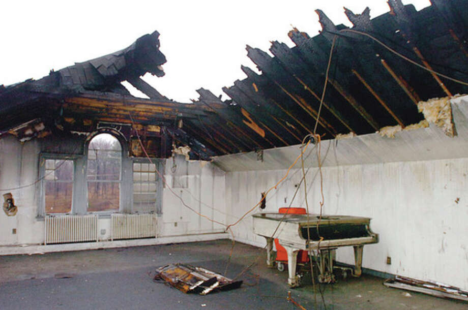 Hour photo / Erik Trautmann The choir room of the Saugatuck Congregational Church was one of the rooms that was gutted by fire last month. / (C)2011, The Hour Newspapers, all rights reserved