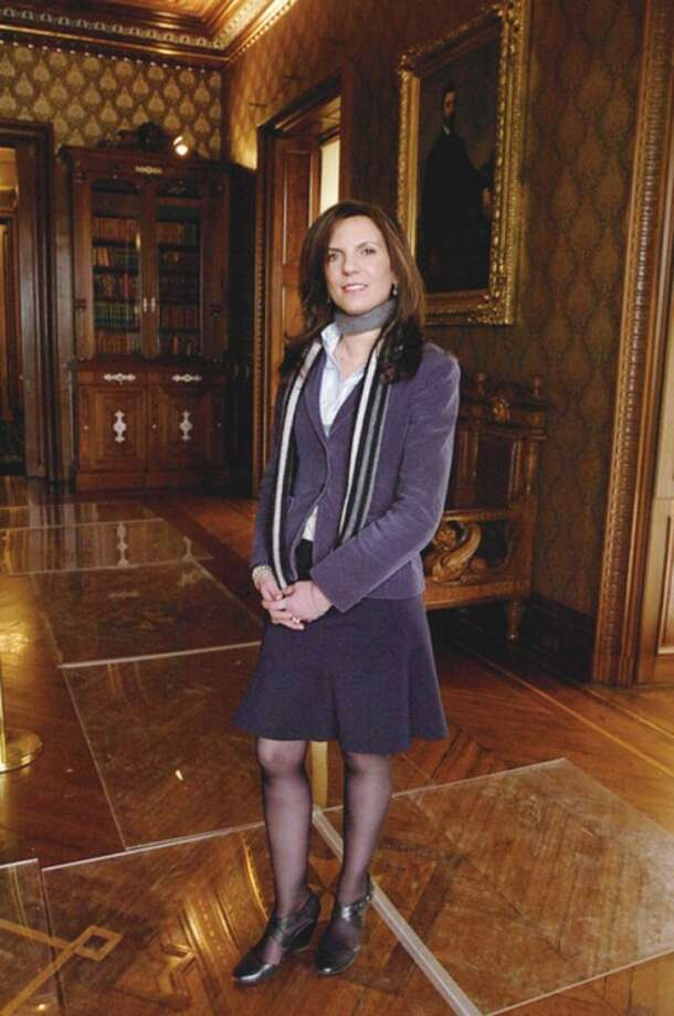 Hour photo / Erik Trautmann @Cutline:Susan Gilgore was named the new executive director of Lockwood-Mathews Mansion Museum.