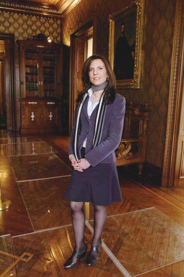Hour photo / Erik Trautmann @Cutline:Susan Gilgore was named the new executive director of Lockwood-Mathews Mansion Museum.