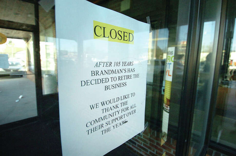 Hour Photo/ Alex von Kleydorff. Brandmans Paint and decorating on Main Ave Norwalk is closed after 105 years / © 2012 The Hour Newspapers