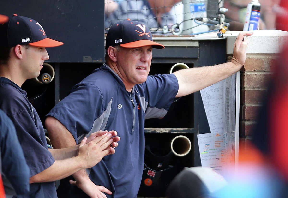 Virginia head coach Brian O'Connor watches a play during an NCAA regional baseball game in Charlottesville, Va., on June 5, 2016.