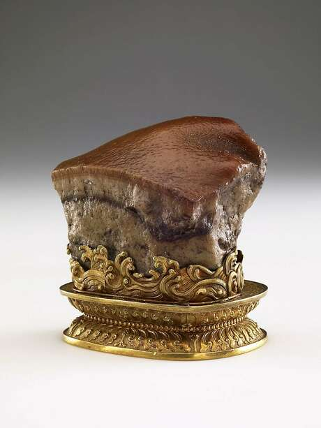 The famous pork belly stone. Photo: National Palace Museum