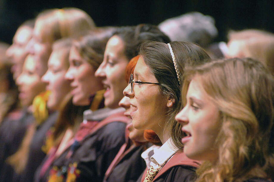 Hour Photo/ Alex von Kleydorff. The cast and chorus of Mary Potter at Wilton High School / © 2012 The Hour Newspapers