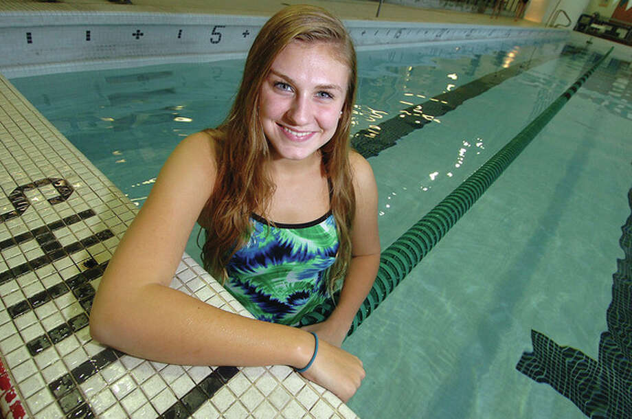 Hour Photo/ Alex von Kleydorff. Norwalk Swimmer Stephanie Czulewicz / 2011 The Hour Newspapers