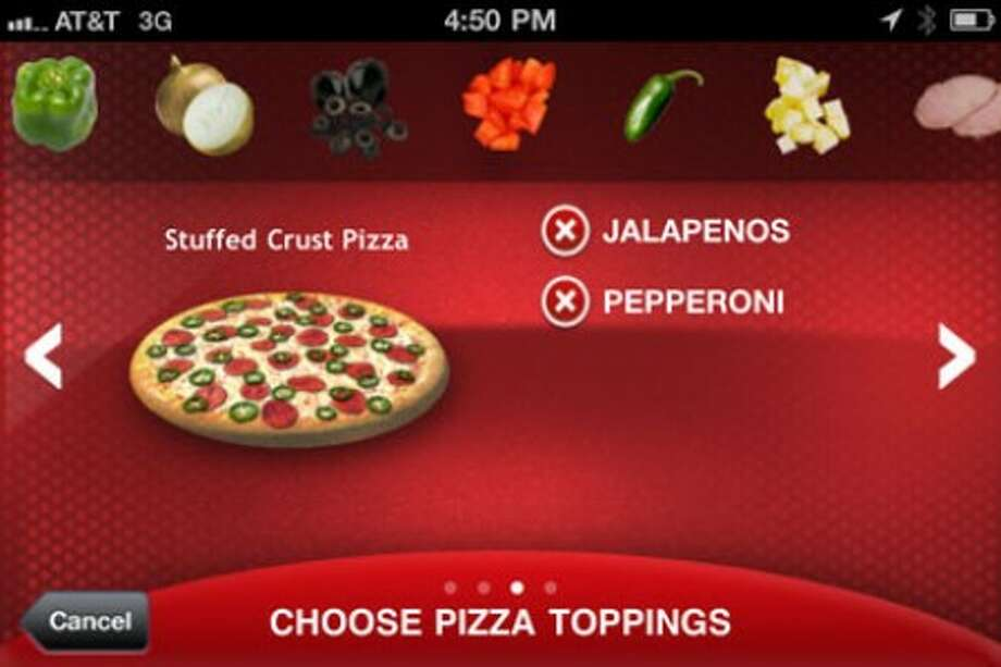 This screen grab courtesy of Pizza Hut shows an image from the Pizza Hut smartphone app. A report from Cornell University reveals that online ordering is catching on fast with pizza customers. (AP Photo/Pizza Hut) NO SALES