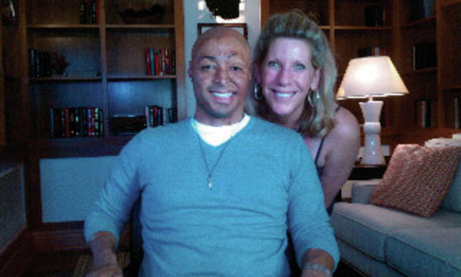 """Dancing with the Stars"" participant JR Martinez and Megan Harris-Smith, a Wilton resident and a documentary filmmaker. Contributed photo."