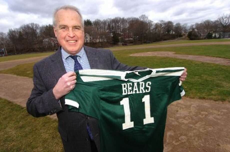Photo/Alex von kleydorff. Jeff Spahr with his Bears jersey.