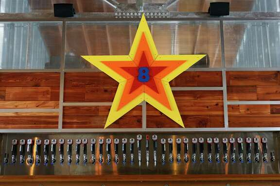 "Mé""é…k studio designed and built the bar area inside 8th Wonder Brewery's tap room east of downtown, Wednesday, Nov. 11, 2015, in Houston. ( Mark Mulligan / Houston Chronicle )"
