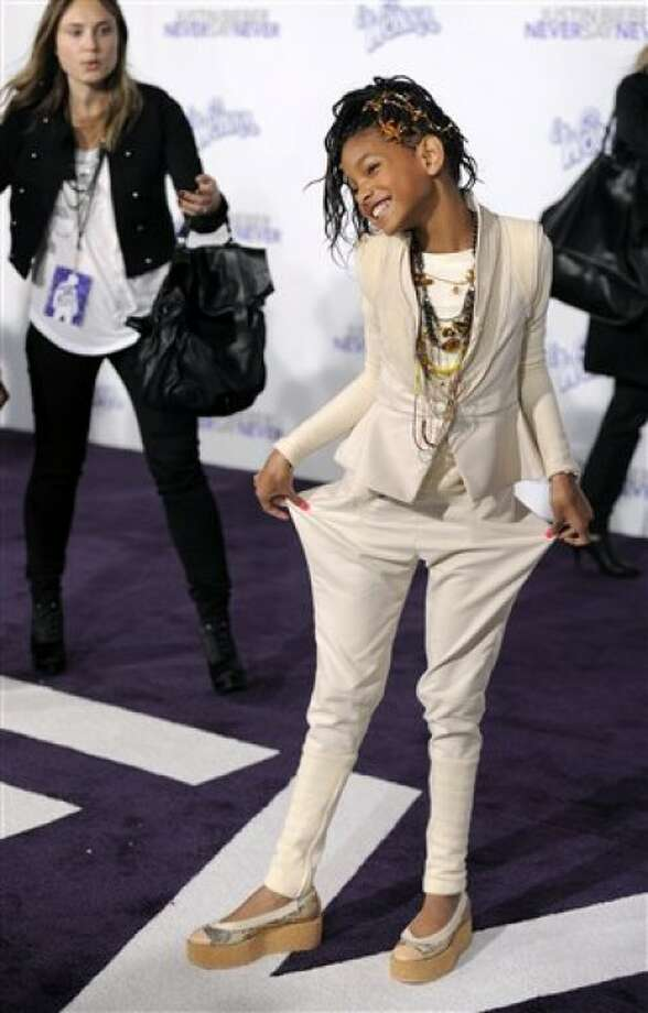 "Willow Smith poses at the premiere of the documentary film ""Justin Bieber: Never Say Never,"" in Los Angeles, Tuesday, Feb. 8, 2011. (AP Photo/Chris Pizzello)"