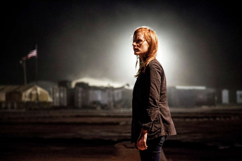 "FILE - This undated publicity file photo released by Columbia Pictures Industries, Inc. shows Jessica Chastain, as Maya, a member of the elite team of spies and military operatives stationed in a covert base overseas, who secretly devoted themselves to finding Osama Bin Laden in Columbia Pictures' new thriller, ""Zero Dark Thirty,"" directed by Kathryn Bigelow. (AP Photo/Columbia Pictures Industries, Inc., Jonathan Olley, File) / Columbia Pictures Industries, Inc."