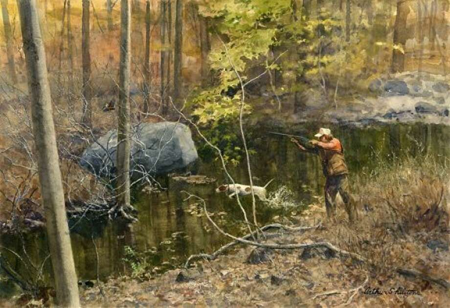 """""""The Decisive Moment"""" is among the many striking watercolor paintings by Arthur Shilstone on exhibit through April 9 at the J. Russell Jinishian Gallery in Fairfield."""