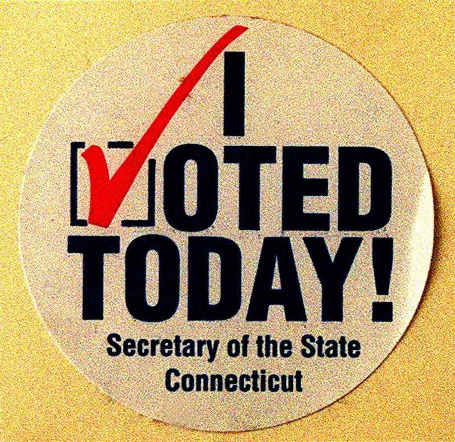 "SPECTRUM/ File photo of ""I Voted Today"" sticker from previous New Milford vote Photo: File Photo / File Photo / The News-Times File Photo"