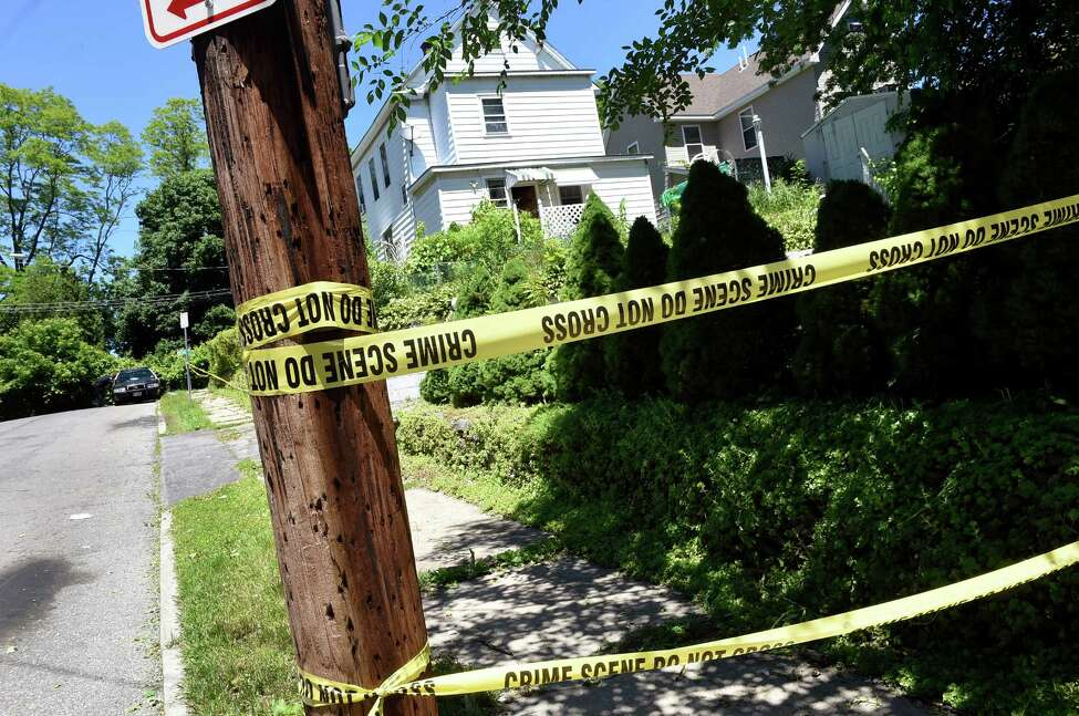 The scene of a shooting at the corner of First Avenue and Sunset Street on Tuesday, June 14, 2016, in Schenectady, N.Y. (Cindy Schultz / Times Union)