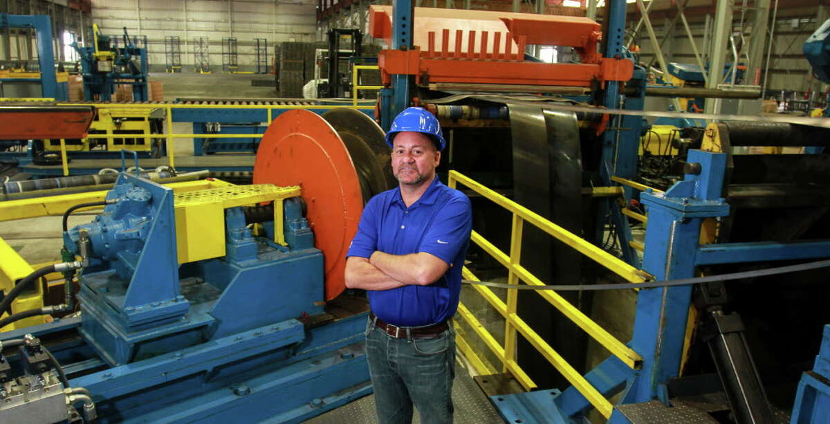 Steve Rogers, executive vice president of Hannibal Industries Inc., in the company's production facility in Houston. (For the Chronicle/Gary Fountain, June 2, 2016)