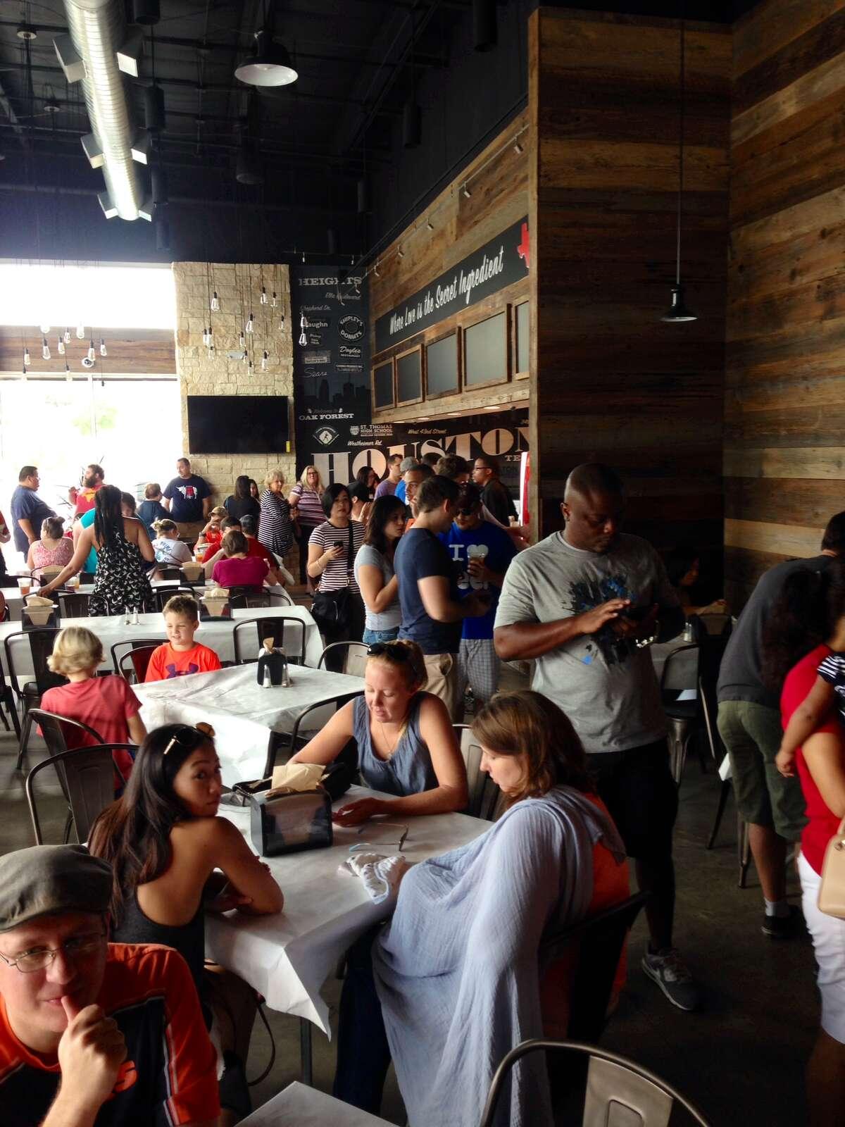 The crowd inside Gatlin's BBQ on Ella