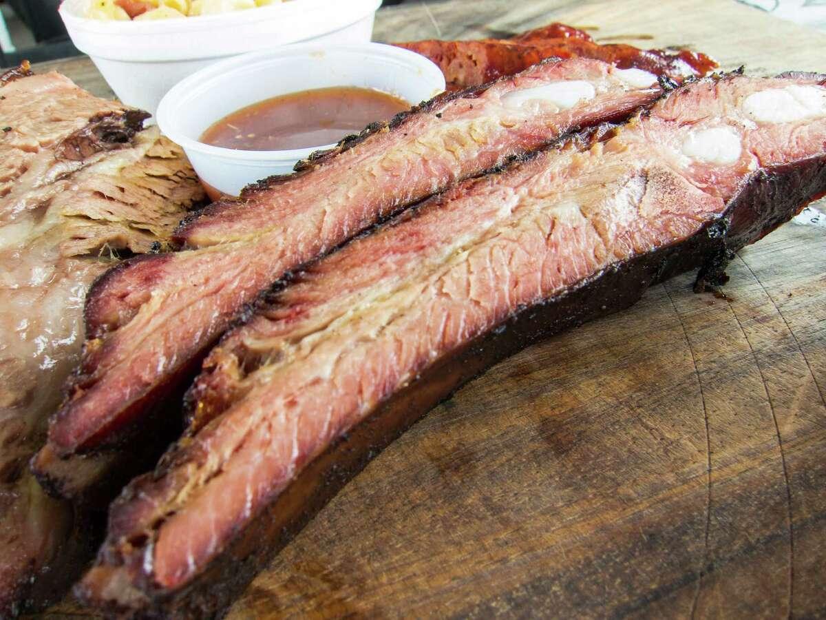 Pork ribs at Brooks' Place BBQ