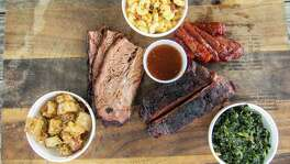 Brisket, ribs, sausage and side dishes at Brooks' Place BBQ in Cypress. Brooks' Place BBQ