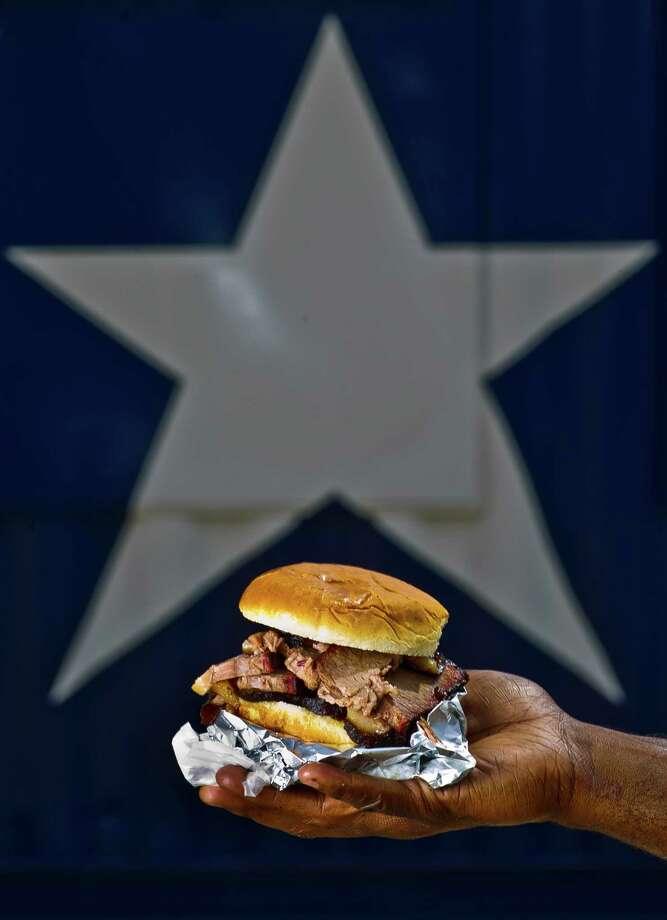 Sliced beef sandwich at Brooks Place BBQ Photo: Nick De La Torre, Staff / © 2013  Houston Chronicle