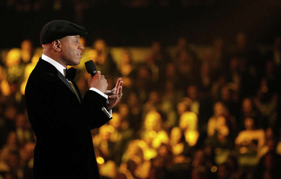 LL Cool J speaks onstage during the 54th annual Grammy Awards on Sunday, Feb. 12, 2012 in Los Angeles. (AP Photo/Matt Sayles) / AP
