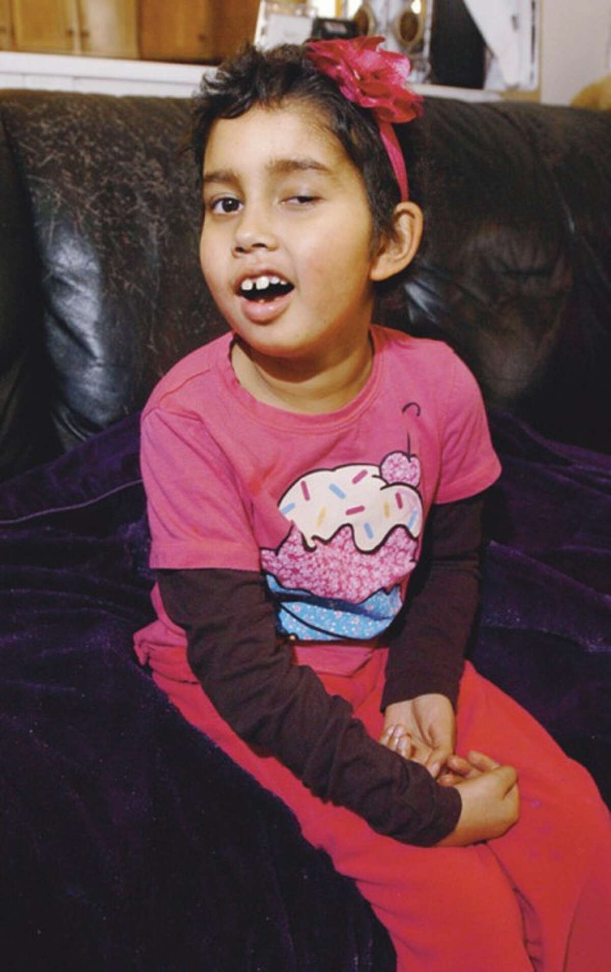 Hour photo / Erik Trautmann Norwalk resident, 8-year-old Isabella Icatar, suffers from a rare brain cancer.