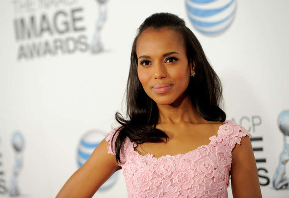 Kerry Washington arrives at the 44th Annual NAACP Image Awards at the Shrine Auditorium in Los Angeles on Friday, Feb. 1, 2013. (Photo by Chris Pizzello/Invision/AP) / Invision