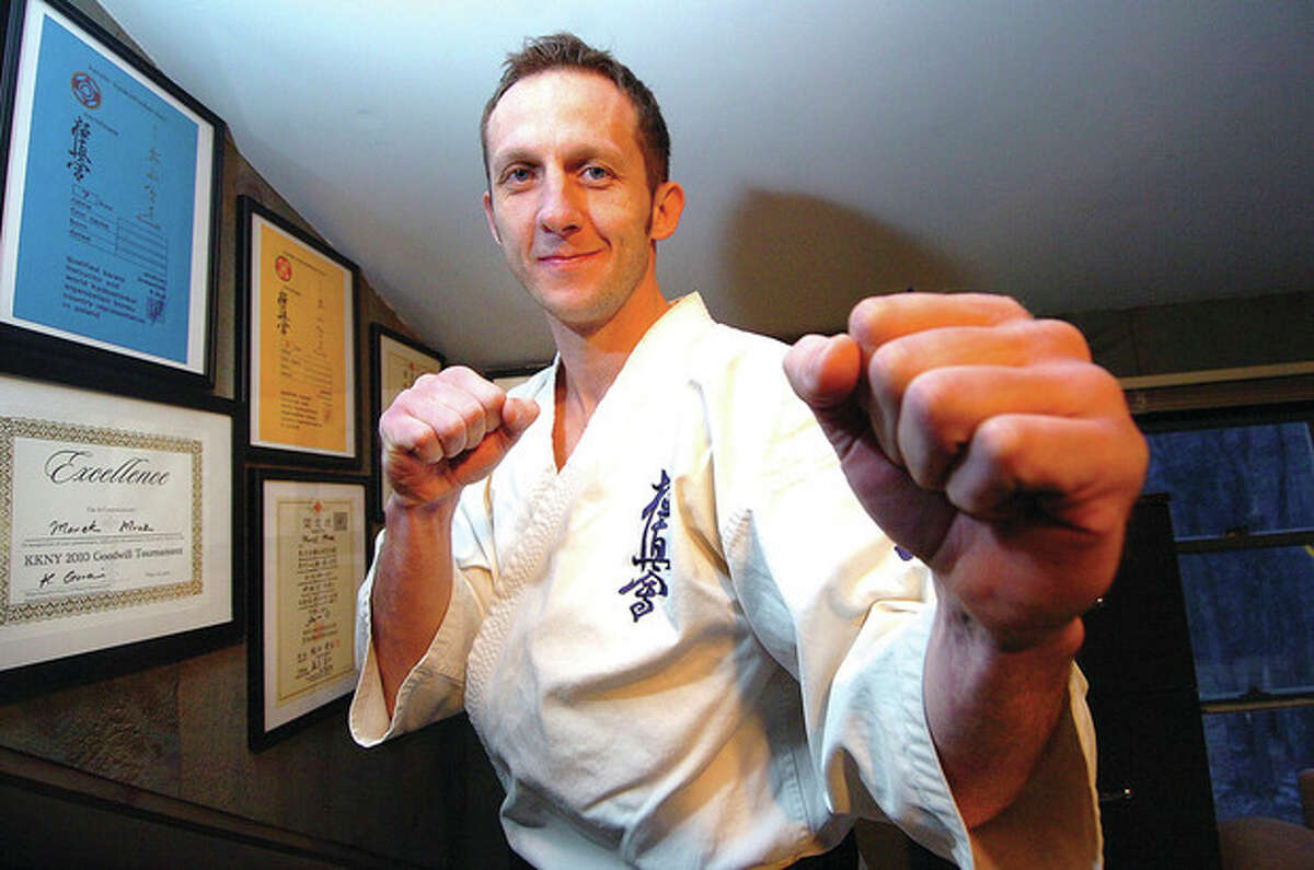 Marek Mroz of Wilton, who placed third at the U.S. Weight Category Karate Championships. Mroz will represent North America in the Kyokushinkaikan Karate Championships in Japan later this month. The 36-year-old Polish national will face off against Alejandro Navarro, an accomplished fighter from Spain.