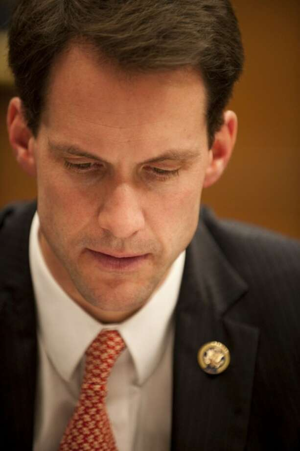 Nov. 19, 2009-Rep. Himes during a house Committee on Financial Services vote.