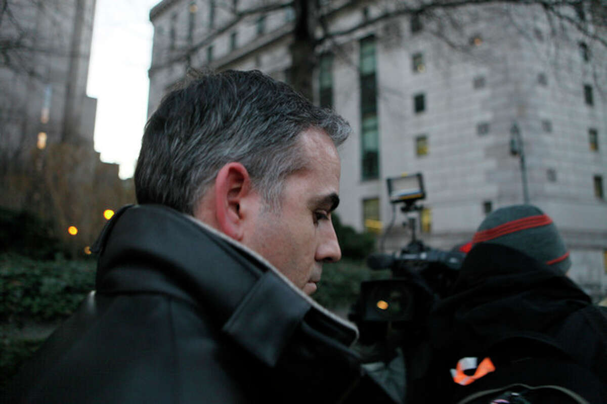 Anthony Chiasson, Level Global Investors LP co-founder leaves Manhattan Federal Court after being released on bail on charges of insider trading Wednesday, Jan. 18, 2012, in New York. Greed on Wall Street set a record, authorities said Wednesday as they unveiled a nearly $78 million insider trading case that involved at least seven financial industry professionals and included a hedge fund co-founder who triggered a single trade that earned $53 million in profits, the largest lone transaction ever prosecuted in Manhattan. (AP Photo/David Karp)