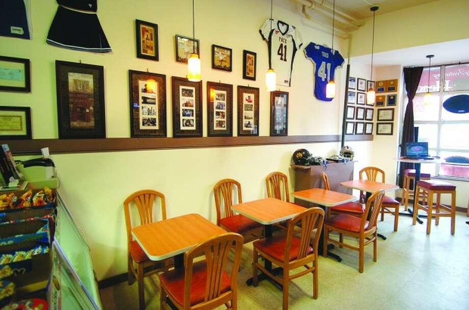 Photo/Alex von kleydorff. Interior of Cafe Turnier in Norwalk