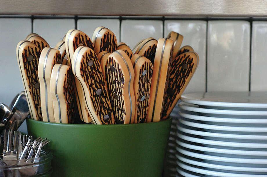 Hour Photo/ Alex von Kleydorff. Interior at Whelk Restaurant Westport. / © 2012 The Hour Newspapers