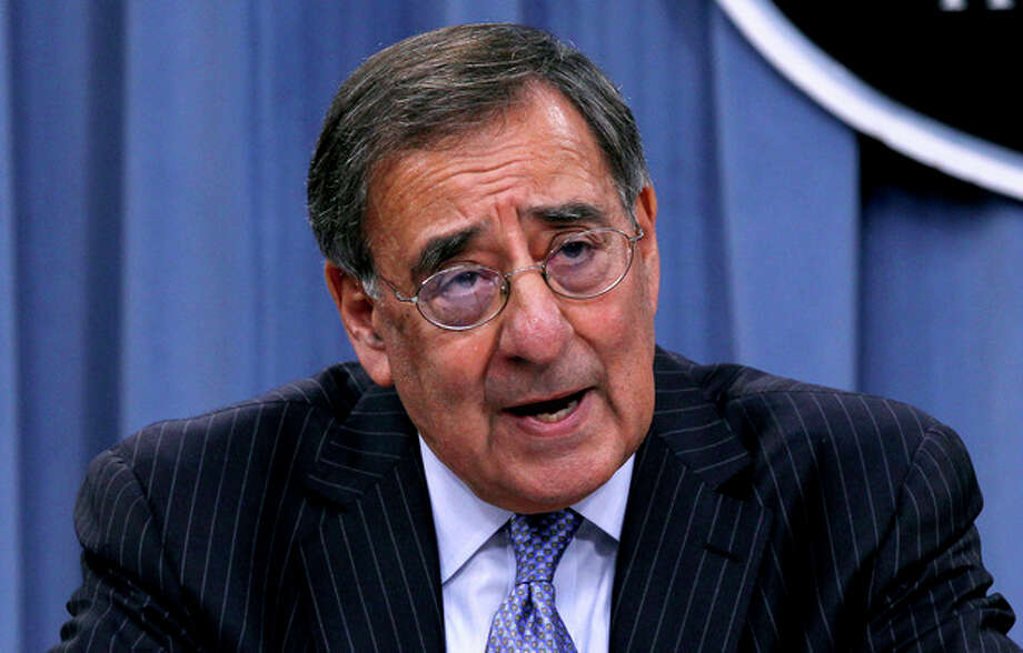 AP Photo/Pablo Martinez Monsivais Defense Secretary Leon Panetta outlines the main areas of proposed spending cuts during a news conference at the Pentagon, Thursday. / AP
