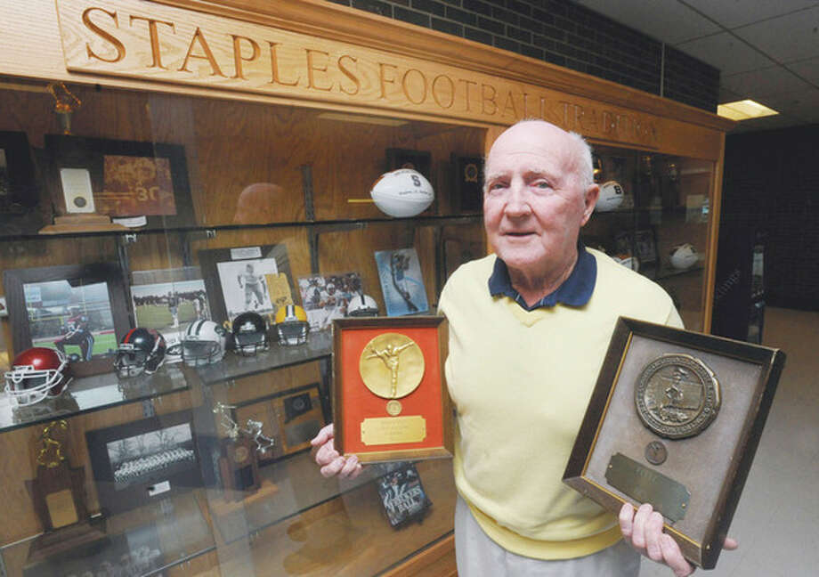Paul Lane was the head coach of the Staples High School 1975 state championship football team. hour photo/Matthew Vinci / (C)2011, The Hour Newspapers, all rights reserved