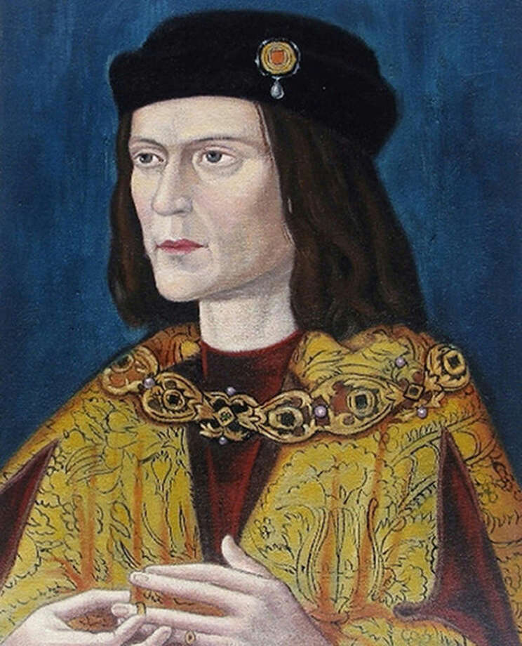 Undated photo made available by the University of Leicester, England, Monday Feb. 4, 2013 of the earliest surviving portrait of Richard III in Leicester Cathedral, ahead of an announcement about the identity of the skeleton found underneath a car park last September. Richard was immortalized in a play by Shakespeare as a hunchbacked usurper who left a trail of bodies — including those of his two young nephews, murdered in the Tower of London — on his way to the throne. (AP Photo/ University of Leicester)