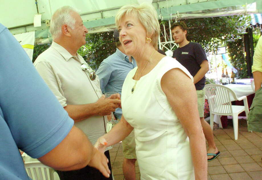 Linda McMahon running for the U.S. Senate seat occupied by Chris Dodd at the Republican meet and greet Sunday held at the Norwalk Inn and Conference Center. hour photo/matthew vinci / (C)2010 The Hour