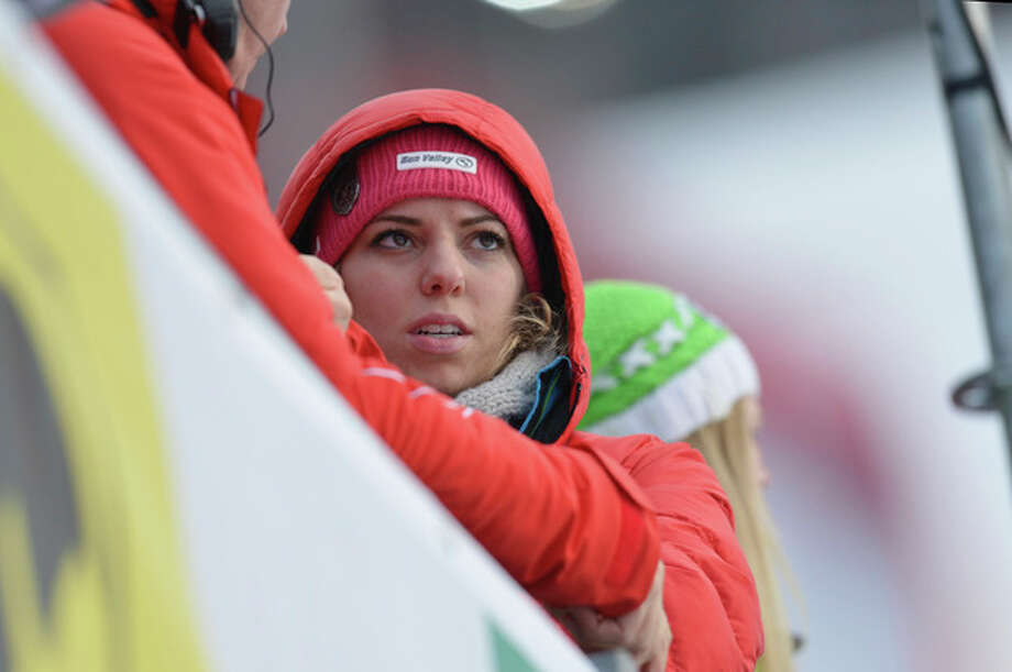 Laura Kildow sister United States' Lindsey Vonn reacts after Vonn crashed during the women's super-G at the Alpine skiing world championships in Schladming, Austria, Tuesday, Feb.5,2013. (AP Photo/Kerstin Joensson) / AP