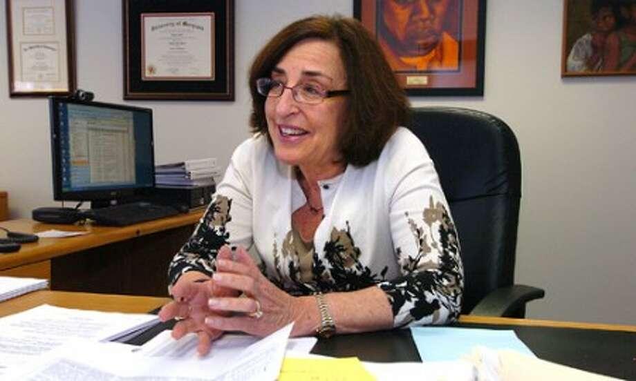 Photo/Alex von Kleydorff. Susan Marks talks about her first six months as Superintendant of Schools.