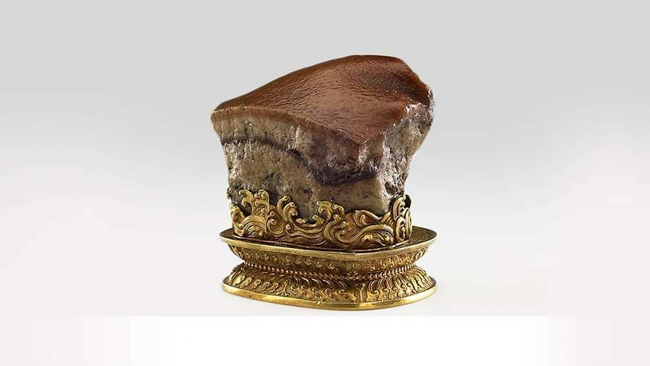 Prized sculpture that resembles pork belly at the Asian Art Museum of San Francisco.